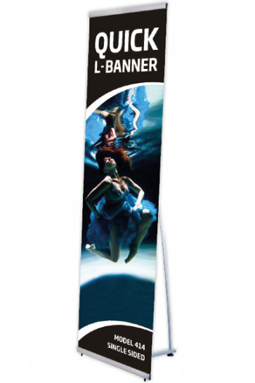 Quick L-Banner, enkelt  50x200cm alu