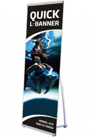 Quick L-Banner, enkelt  80x200cm alu