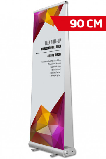 Flex Roll-up, dobbelt 90x107-237cm alu, med taske