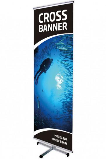 CROSS BANNER enkelt 60x200cm alu