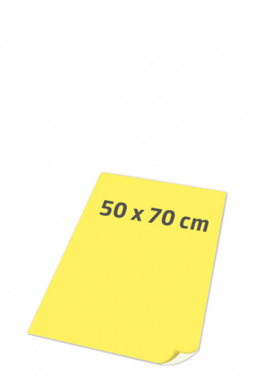 PLAKATPAPIR superglat 90gr 50x70cm gul