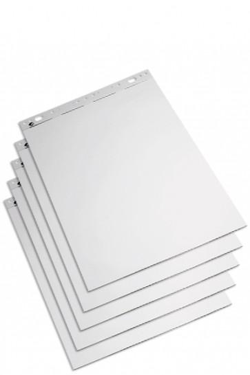 Flipover / Flipchart  blokke 59x80cm weiss, blokke á 50 ark.  (Pakke á 5 blokke)