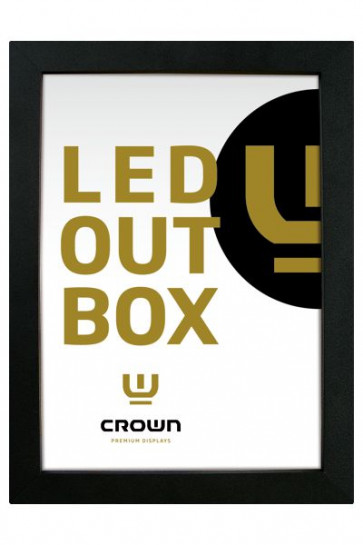 CROWN  LED OUT BOX, 50x70cm double sided - black