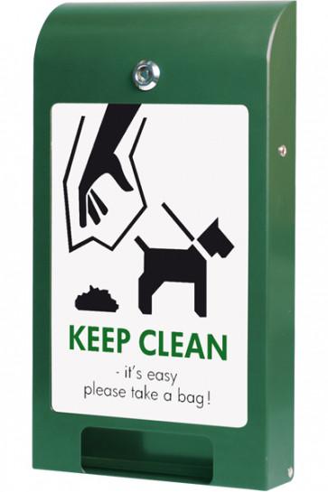 Dispenser for Dogbags, A4 info - Grøn