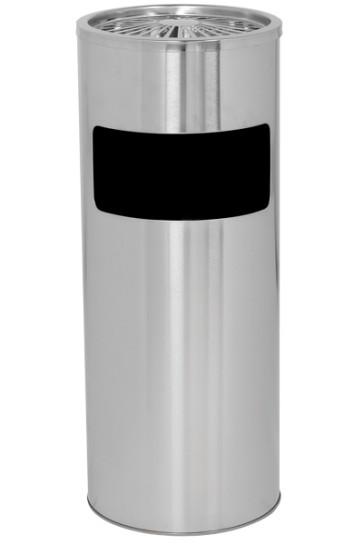Cigarette Trash Can 18 L - Silver