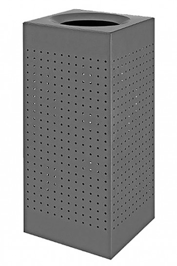 Waste Bin Outdoor, RAL 9007, maxi