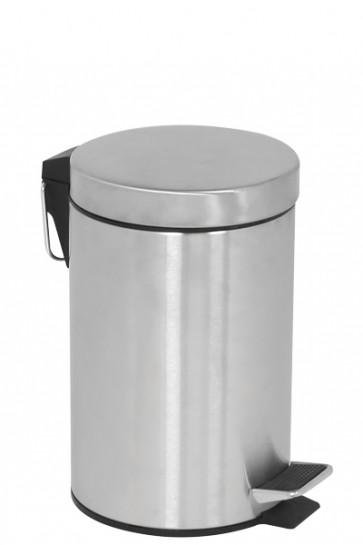 Pedal Trash Can, 5 L - Silver
