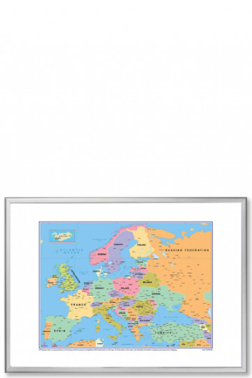Europe Political Map, 100x70cm