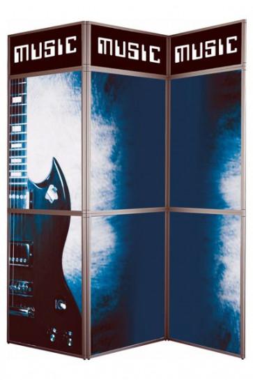 Expo Wall 3 - 3x3 sektioner alu