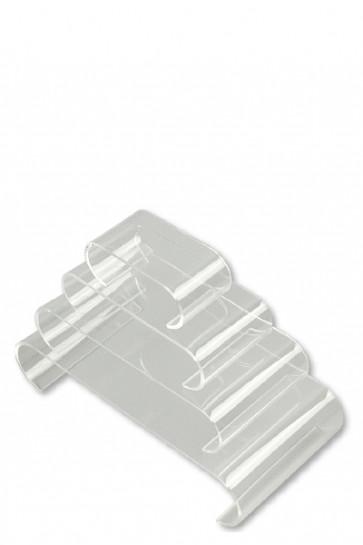 Nesting Shelves Rounded x 4  - transparent