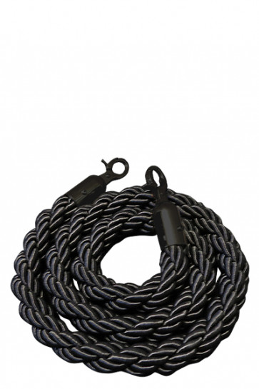 Crowd control rope, Black - Black fixing