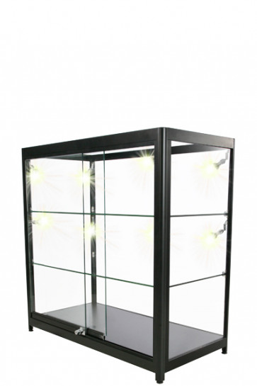 Showcase Counter, Duo - Sort. LED