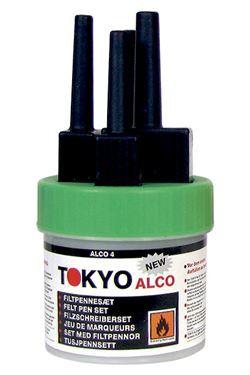 TOKYO ALCO 3 filtpennesæt grøn