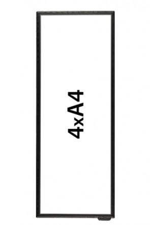 FloorWindo 4xA4 gulvdisplay