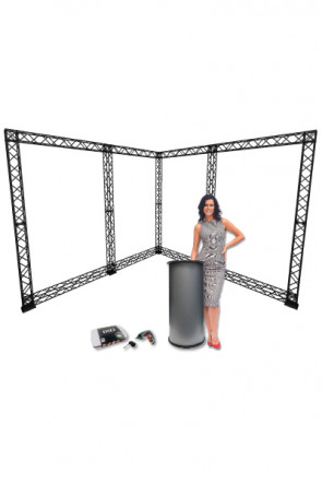 CROWN TRUSS 10x10 - 3x3 meter L-Stand inkl. Counter og Ixo
