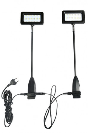 CROWN TRUSS, LED, 15 watt  Spotlight, inkl. holder. 1 sæt = 2 stk. spot - Sort