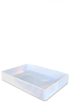 Drypbakke hvid akryl