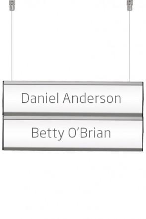 Ceiling Info System, double. 2 rækker á 7,4x50cm