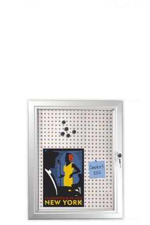 INFOBOX Combi m/lås 45mm 4xA4 Alu