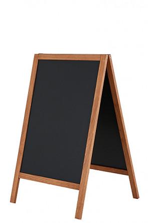 Wooden A-Board Dark with Steel Board 46x68cm - Mørk bejdset bøg