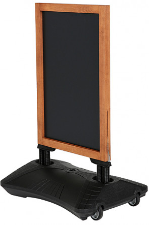Wooden Wind-Sign Waterbase with Blackboard 59x78cm