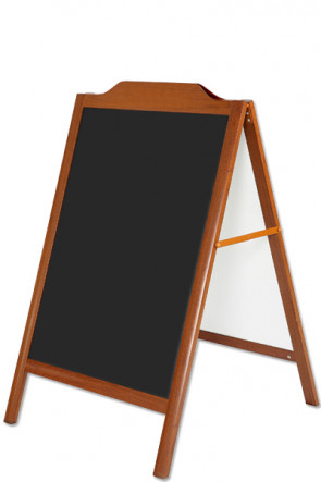A-board Wood-Look 60x80cm with decorative top