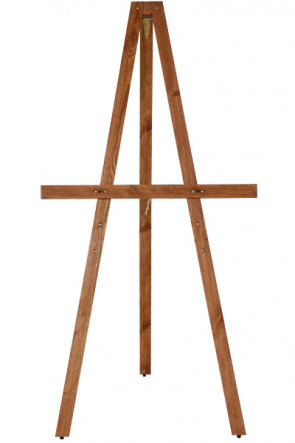 Wooden Staffeli, 165cm. Dark wood
