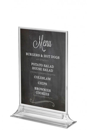 UPRIGHT  MENU HOLDER Vertical A5