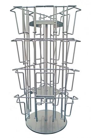 Wireholder Spin Table 24xA6 eller M65 Sølv