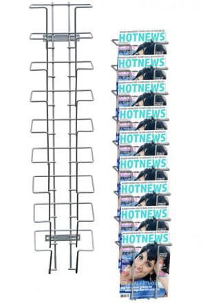 Wireholder Wall 9xA5 eller A6 Horisontal sølv