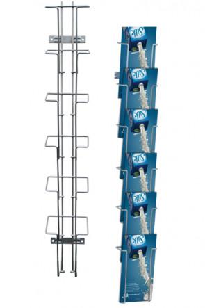 Wireholder Wall 6 x M65/A6  sølv