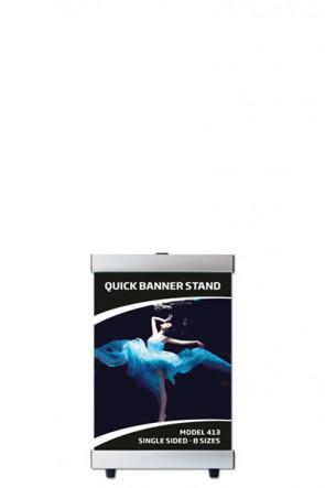 QUICK BANNER STAND A4 enkeltsidet