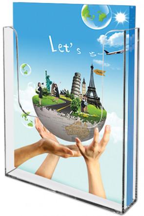Acrylic Wall Brochureholder A4 klar