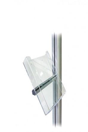 MULTISTAND akryl brochureholder m/alu beslag, M65