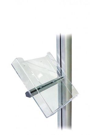 MULTISTAND akryl brochureholder m/alu beslag, A5
