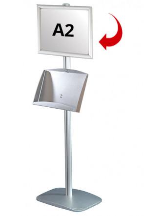 Mini Multistand 5 - Enkeltsidet A2 Snap Frame + A3 Stål hylde