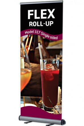 Flex Roll-up, enkelt 100x100-230cm alu, med taske