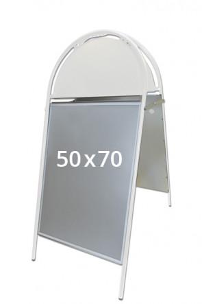 GOTIK Budget Gadeskilt 50x70 cm hvid