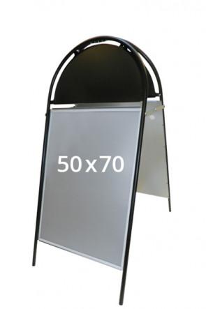 GOTIK Budget Gadeskilt 50x70 cm sort