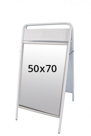 EXPO SIGN gadeskilt 22mm 50x70cm OD hvid