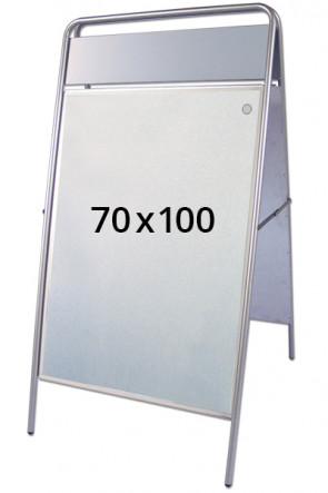 EXPO SIGN gadeskilt 22mm 70x100cm OD sølv