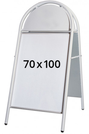EXPO GOTIK LUX gadeskilt 32mm 70x100cm hvid
