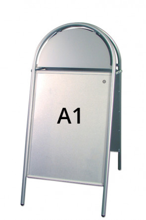 EXPO GOTIK gadeskilt 25mm A1 sølv