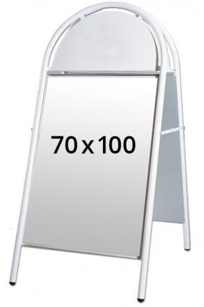 EXPO GOTIK gadeskilt 25mm 70x100cm hvid