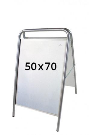 EXPO SIGN LUX gadeskilt 50x70cm sølv