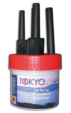 TOKYO ALCO 4 filtpennesæt rød