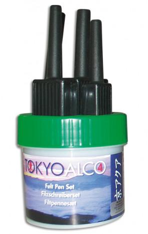 TOKYO ALCO 4 filtpennesæt grøn