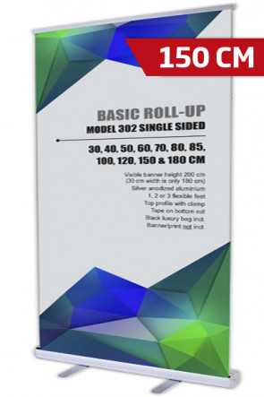 Basic Roll-up, Enkelt Model 150 - alu