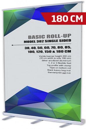 Basic Roll-up, Enkelt Model 180 - alu