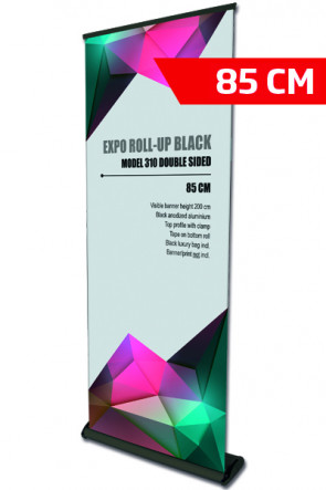 Expo Roll-up, Enkelt Model 85cm - sort     ( Ny str. )
